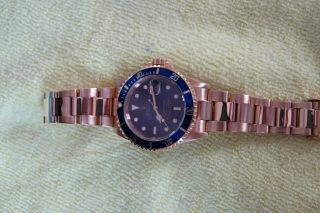 ROLEX 18K GOLD SUBMARINER 16618 8