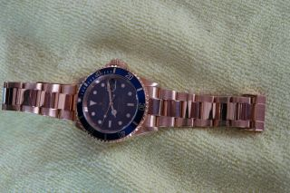 ROLEX 18K GOLD SUBMARINER 16618 9