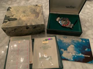 Vintage Rolex 1675 Gmt Master - Full Set,  Box,  Papers,  Booklets - 1975/76