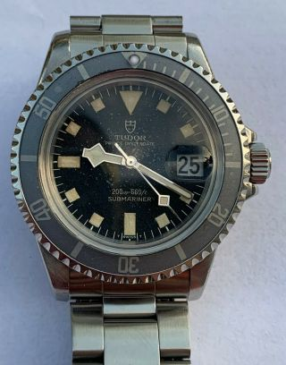 "Vintage Tudor Submariner Snowflake 9411/0.  Watch,  Great "" Ghost "" Bezel"