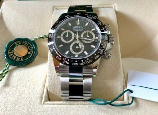 Rolex Daytona Stainless Steel Ceramic Bezel Black Dialbnib With Tags