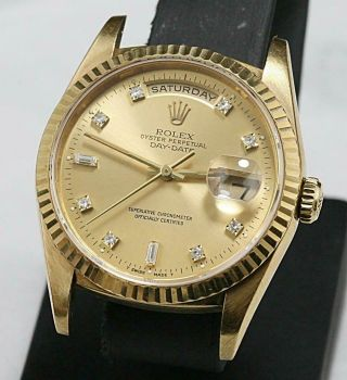 Swiss Made Rolex Presidental Day - Date 18238 18k Double Qs Factory Diamond Dial