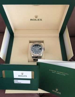 Rolex Sky Dweller Blue Baton 2019 Stainless / White Gold 2