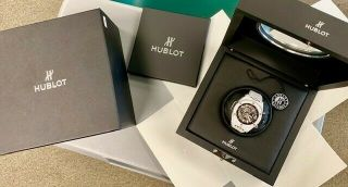 Hublot Big Bang Unico Ceramic Auto 42 Mm White Watch 441.  Hx.  1170.  Rx (pre - Owned)