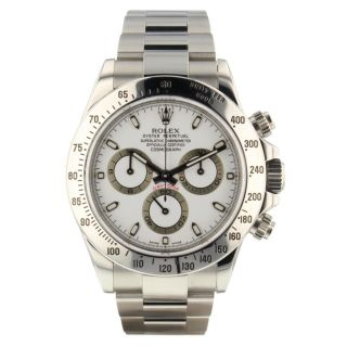 Rolex Cosmograph Daytona Steel White Watch 116520 V Series Box Papers