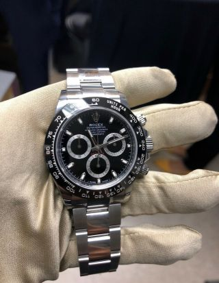 Rolex Daytona 116500ln Bk Cosmograph Steel & Ceramic Automatic Men
