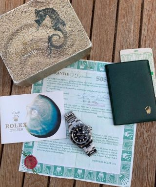 Vintage Rolex 1680 Submariner - Box,  Papers,  Unpolished.  1976