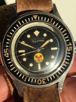 Vintage Blancpain Fifty Fathoms No Radiations