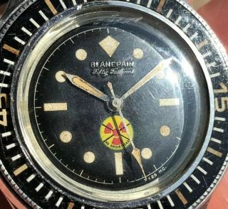 Vintage Blancpain Fifty Fathoms No Radiations 4