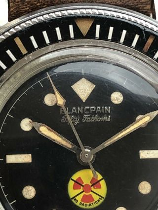 Vintage Blancpain Fifty Fathoms No Radiations 5