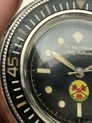 Vintage Blancpain Fifty Fathoms No Radiations 8