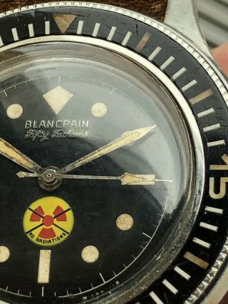 Vintage Blancpain Fifty Fathoms No Radiations 9