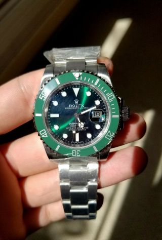 Rolex Submariner Hulk Steel Ceramic Automatic Mens Watch 116610lv