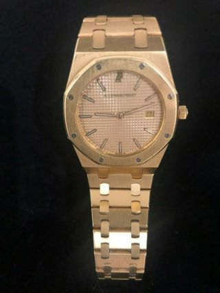 Audemars Piguet Royal Oak 18k Gold Wrist Watch Quartz 33mm