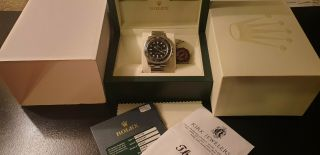 Rolex Gmt Master Ii Ceramic Style 116710n All Steel 40mm Black Dial Full Papers
