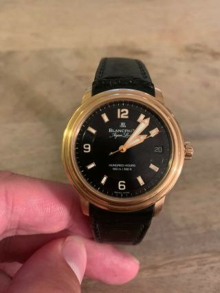 Rare Limited Edition Blancpain Aqualung 18k Gold Watch