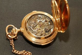Marshal George Zhukov pocket watch gold Swiss with a minute repeater 14k (585) 2