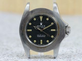 Rolex Steel Submariner Automatic 5513 Gilt Serial Range 1966 Long Five Insert