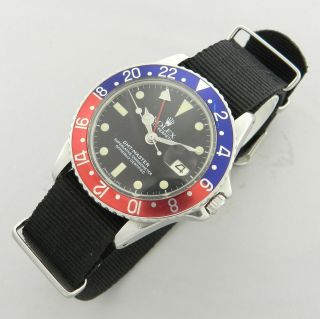 Rolex Gmt - Master Ref.  1675 Vintage Watch 100 Year 1967 Pepsi