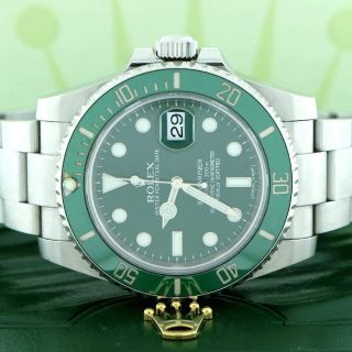 Rolex Submariner Hulk Ceramic Green Bezel/dial 40mm Steel Watch 116610