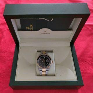 Rolex Submariner 16613 - 18k Yellow Gold/steel - Oyster Black Bezel -