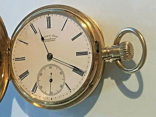 A Lange Sohne Glashutte Pocket 18k Gold 52mm Open Faced Pocket Watch