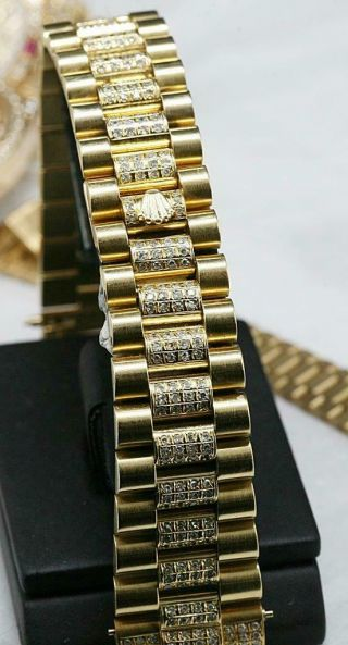 CUSTOM MADE After Market 18K Solid Gold Men ' s 31mm Datejust Quick Set Auto Watch 3