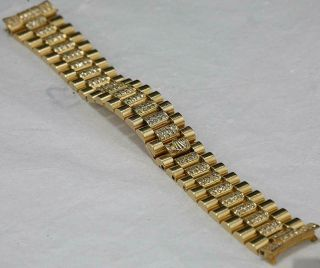 CUSTOM MADE After Market 18K Solid Gold Men ' s 31mm Datejust Quick Set Auto Watch 5