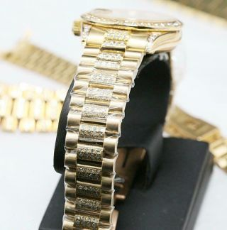 CUSTOM MADE After Market 18K Solid Gold Men ' s 31mm Datejust Quick Set Auto Watch 9