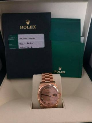 Rolex Day - Date President 40mm 18k Yellow Gold Watch Box/papers 228238