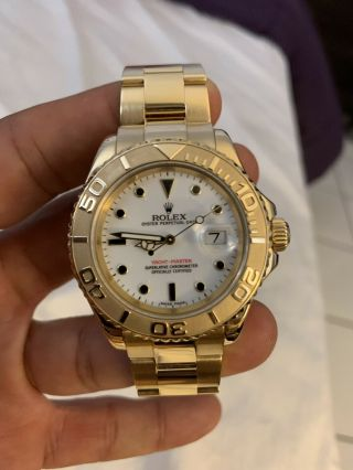 Rolex Yacht - Master 18k Yellow Gold 16628 Papers and Tags Full Bracelet 10