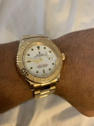 Rolex Yacht - Master 18k Yellow Gold 16628 Papers and Tags Full Bracelet 11