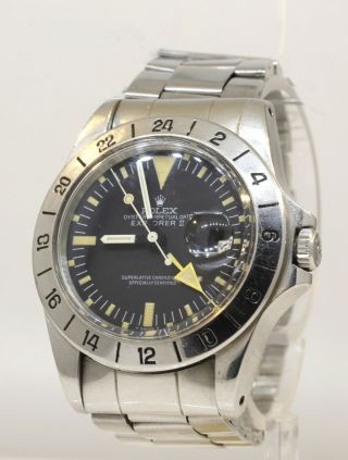 Vintage Rolex Explorer Ii 1655 Steve Mcqueen Watch All A25