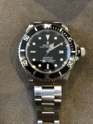 Rolex Sea - Dweller 4000 Auto 40mm Steel Mens Oyster Bracelet Watch Date 16600