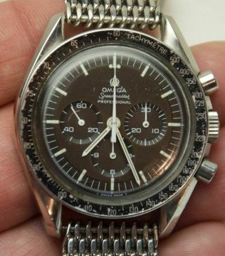 Rare Omega Speedmaster Pre Moon Don Chocolate Tropical Dial Ref.  145.  022 - 69 St