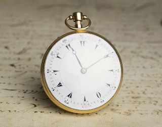 MUSICAL REPEATER SELF STARTING Solid GOLD Antique Repeating Pocket Watch NO RESE 2