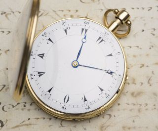 MUSICAL REPEATER SELF STARTING Solid GOLD Antique Repeating Pocket Watch NO RESE 9