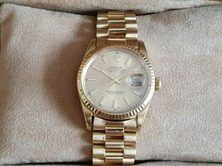 Rolex Oyster Perpetual Datejust 18k Solid Yellow Gold Watch Ref.  16238