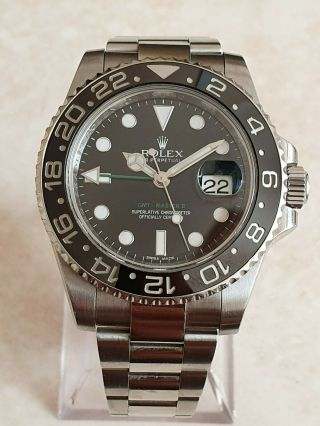 Rolex Oyster Perpetual Date Gmt Master Ii St/steel Watch Ref.  116710