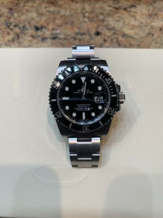 2016 Rolex Submariner Date 116610ln Black