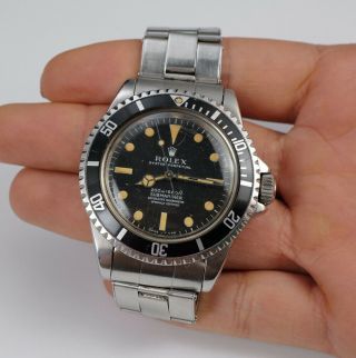 Vintage 1967 Rolex Submariner Superlative Chronometer 5512 Men