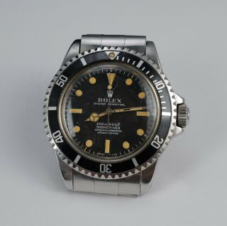 VINTAGE 1967 ROLEX SUBMARINER SUPERLATIVE CHRONOMETER 5512 MEN ' S WATCH. 4