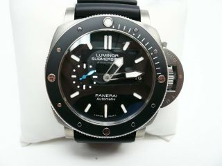 Panerai Pam 1389 Luminor Submersible Titanium Strap Wristwatch,  Box 2018