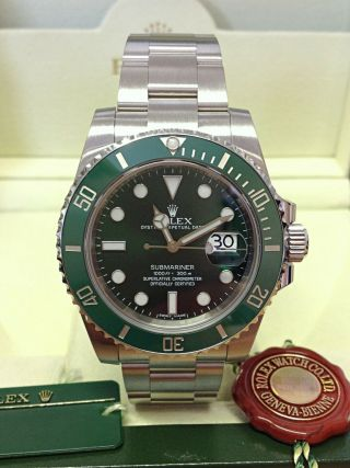 Rolex Submariner Date 116610lv Green Dial