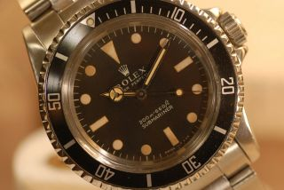 Vintage Rolex Submariner 4th Qtr 1967 Original/rare Meters First Dial Cal 1530