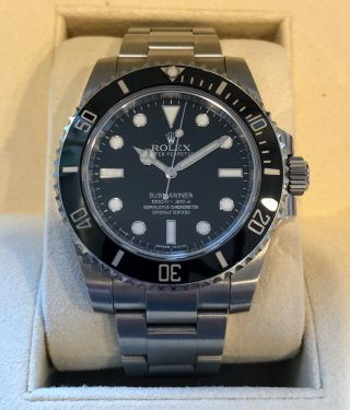 Rolex Submariner Steel Model 114060,  Ceramic Bezel,  2016