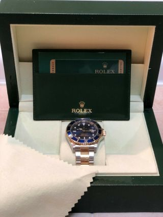 Rolex Submariner Auto 40mm Steel Yellow Gold Mens Bracelet Watch Date 116613lb