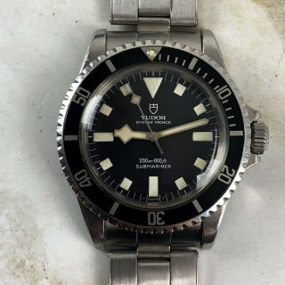 Vintage Tudor (by Rolex) Submariner Snowflake Wristwatch Ref.  7016/0 No Date Nr