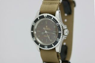 Rolex Submariner Ref 5513 Vintage Gilt Tropical Brown Dial Dive Watch 1960s 11