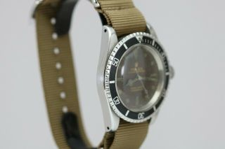 Rolex Submariner Ref 5513 Vintage Gilt Tropical Brown Dial Dive Watch 1960s 12